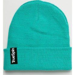 True Spin - Czapka. Niebieskie czapki zimowe damskie True Spin, z dzianiny. W wyprzedaży za 49,90 zł.