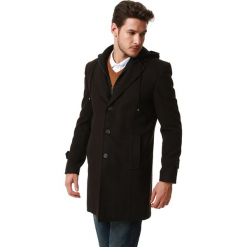 Płaszcz w kolorze brązowym. Brązowe płaszcze zimowe męskie marki AVVA, Dewberry, l. Za 449,95 zł.