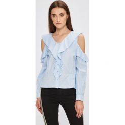Miss Poem - Koszula. Niebieskie koszule damskie marki Miss Poem, l, z bawełny, casualowe, z długim rękawem. W wyprzedaży za 59,90 zł.