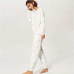 Piżama ze spodniami - Kremowy. Czarne piżamy damskie marki Reserved, l. Za 129,99 zł.