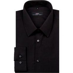 Koszula SIMONE KDCR000154. Niebieskie koszule męskie na spinki marki bonprix, m, z nadrukiem, z klasycznym kołnierzykiem, z długim rękawem. Za 149,00 zł.