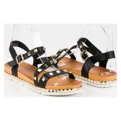 Czarne sandały z ćwiekami ANESIA PARIS czarne. Czarne sandały damskie marki ANESIA PARIS. Za 69,00 zł.