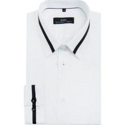 Koszula MICHELE KDBE000051. Białe koszule męskie na spinki Giacomo Conti, m, w paski, z klasycznym kołnierzykiem. Za 199,00 zł.
