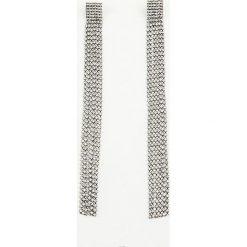 Kolczyki damskie: NA-KD Party Szerokie, wiszące kolczyki z kryształami - Silver