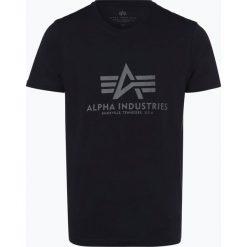 Alpha Industries - T-shirt męski, niebieski. Niebieskie t-shirty męskie z nadrukiem Alpha Industries, l. Za 89,95 zł.