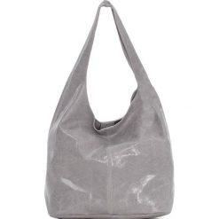 Torebki klasyczne damskie: Skórzana torebka w kolorze szarym – 30 x 35 x 15 cm