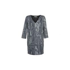 Sukienki krótkie See U Soon  BELDONT. Niebieskie sukienki mini marki See u Soon, s, z krótkim rękawem. Za 216,80 zł.