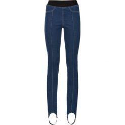 """Spodnie z wysokim stanem: Dżinsy Superskinny z paskiem pod stopę bonprix niebieski """"stone"""""""