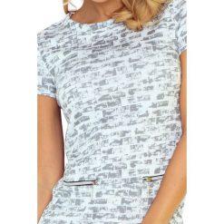 Sukienka ASIA z dwoma zamkami - SZARY MUREK - 2