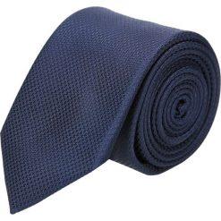 Krawaty męskie: krawat platinum granatowy classic 239