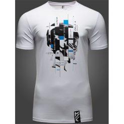 T-shirty męskie: T-shirt męski Maciek Kot Collection TSM501 – biały