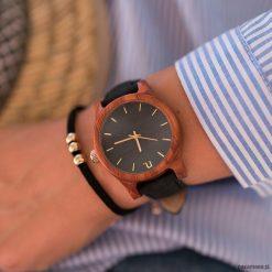 Damski zegarek z drewna Classic 38 mm n025. Brązowe zegarki damskie marki Pakamera. Za 399,00 zł.