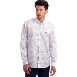 Koszule męskie na spinki: Koszula w kolorze biało-niebieskim