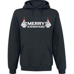 Merry KissMyAss! Bluza z kapturem czarny. Czarne bejsbolówki męskie Merry KissMyAss!, m, z nadrukiem, z kapturem. Za 121,90 zł.