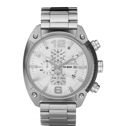 Zegarek DIESEL - Overflow DZ4203 Silver/Steel/Silver. Szare zegarki męskie Diesel. Za 929,00 zł.