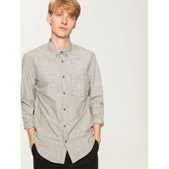 Koszula regular fit - Szary. Szare koszule męskie marki Reserved, l, z bawełny. Za 159,99 zł.