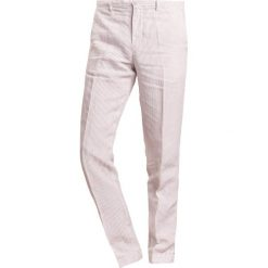 Chinosy męskie: 120% Lino PANTALONE UOMO STRIPE Spodnie materiałowe natural
