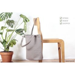 Shopper bag damskie: Shopper bag XL torba latte na zamek