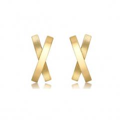 Złote kolczyki. Żółte kolczyki damskie Golden Moments, złote. W wyprzedaży za 219,95 zł.