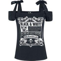Bluzki asymetryczne: Skelanimals Black & White Koszulka damska czarny