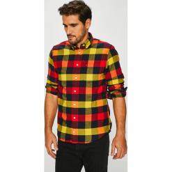 Tommy Hilfiger - Koszula. Brązowe koszule męskie na spinki TOMMY HILFIGER, l, w kratkę, z bawełny, button down, z długim rękawem. Za 399,90 zł.