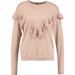 Swetry klasyczne damskie: YAS YASLORY FLOUNCE Sweter mahogany rose