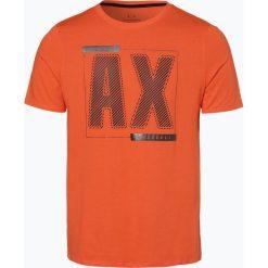 Armani Exchange - T-shirt męski, pomarańczowy. Czarne t-shirty męskie marki Armani Exchange, l, z materiału, z kapturem. Za 149,95 zł.