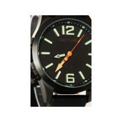 Zegarek OOZOO Steel OS411 Black Lumi. Czarne, analogowe zegarki męskie Moderntime, ze stali. Za 369,00 zł.
