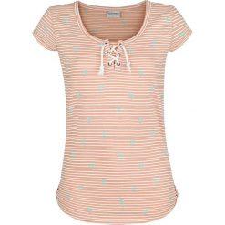 Bluzki damskie: Stitch and Soul Stripes Koszulka damska żółto-pomarańczowy (Apricot)