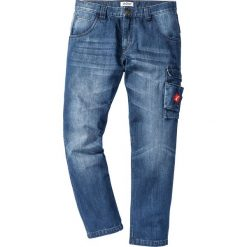 Jeansy męskie regular: Dżinsy Regular Fit Tapered bonprix niebieski