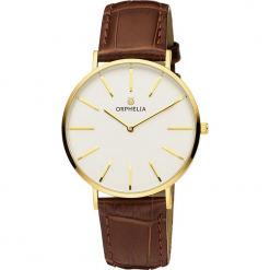 Zegarek kwarcowy w kolorze brązowo-biało-złotym. Brązowe, analogowe zegarki damskie Esprit Watches, ze stali. W wyprzedaży za 136,95 zł.