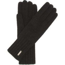 Rękawiczki damskie. Czarne rękawiczki damskie Ochnik, w ażurowe wzory, z dzianiny. Za 89,90 zł.