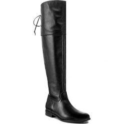 Muszkieterki KARINO - 2236/076-F Czarny. Czarne buty zimowe damskie marki Kazar, ze skóry, na wysokim obcasie. W wyprzedaży za 369,00 zł.