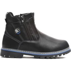Czarne Traperki City Park. Czarne buty zimowe chłopięce Born2be, z materiału, z okrągłym noskiem, na zamek. Za 69,99 zł.