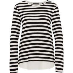 Esprit Collection - Damska koszulka z długim rękawem, czarny. Czarne t-shirty damskie Esprit Collection, xxl, w prążki, z szyfonu. Za 159,95 zł.