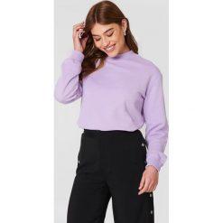 NA-KD Basic Bluza basic - Purple. Różowe bluzy damskie marki NA-KD Basic, prążkowane. Za 100,95 zł.