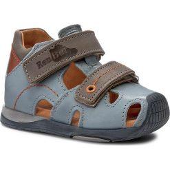 Sandały RENBUT - 11-1433 Jeans/Brąz. Niebieskie sandały męskie skórzane marki RenBut. W wyprzedaży za 149,00 zł.