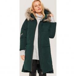 Pikowany płaszcz oversize - Khaki. Brązowe płaszcze damskie House, l. Za 359,99 zł.