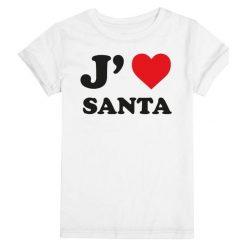 Christmas T-Shirt T-Shirt Damski I Love Santa L Biały. Białe t-shirty damskie Christmas T-Shirt, l, z bawełny. Za 45,00 zł.