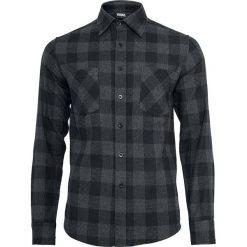 Urban Classics Checked Flannel Shirt Koszula czarny/szary. Białe koszule męskie na spinki marki bonprix, z klasycznym kołnierzykiem, z długim rękawem. Za 121,90 zł.