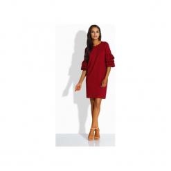 LEMONIADE  L229 Luźna sukienka w stylu hiszpańskim. Czerwone sukienki hiszpanki Lemoniade, l, z bawełny, z falbankami, proste. Za 125,90 zł.
