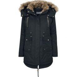 Płaszcze damskie: Urban Classics Ladies Imitation Fur Parka Płaszcz damski czarny