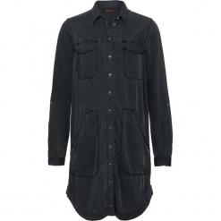 Sukienka z długim rękawem bonprix czarny. Czarne sukienki z falbanami bonprix, z długim rękawem. Za 89,99 zł.
