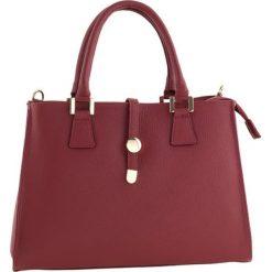 Torebki klasyczne damskie: Skórzana torebka w kolorze bordowym – 35 x 25 x 11 cm