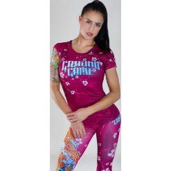 """Bluzki damskie: Ground Game Sportswear Koszulka damska """"Koi"""" krótki rękaw  Różowa r. L"""