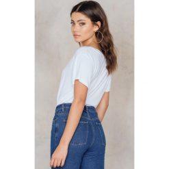 Rut&Circle T-shirt V Alina - White. Białe t-shirty damskie Rut&Circle, z elastanu. Za 64,95 zł.