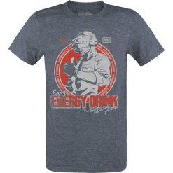 Playerunknown's Battlegrounds PUBG - Energy Drink T-Shirt odcienie granatowego. Szare t-shirty męskie z nadrukiem Playerunknown's Battlegrounds, m, z okrągłym kołnierzem. Za 74,90 zł.