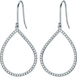 Srebrne kolczyki z cyrkoniami. Szare kolczyki damskie Stylowa biżuteria, z cyrkonią, srebrne, z zapięciem typu bigiel. W wyprzedaży za 173,95 zł.