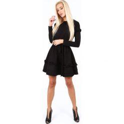 Sukienka z falbankami czarna 1893. Czarne sukienki Fasardi, s, z falbankami. Za 89,00 zł.