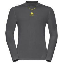 Odlo Koszulka tech. Odlo Shirt l/s turtle neck Ceramicool         - 160202 - 160202/10478/L. Czarne koszulki sportowe męskie marki Odlo, l. Za 128,01 zł.